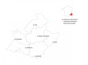 Implantation de la Mutualité Française Sud en région PACA