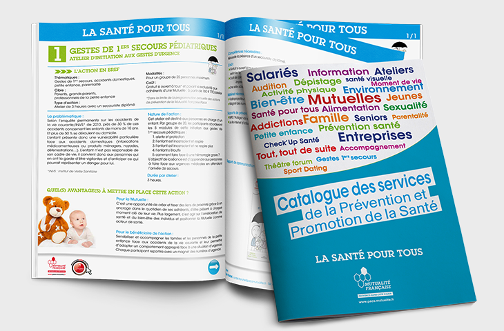 Le catalogues des actions de prévention santé en direction de toutes les populations