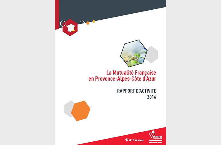 Plaquette du rapport d'acitivité de la Mutualité Française Paca 2016