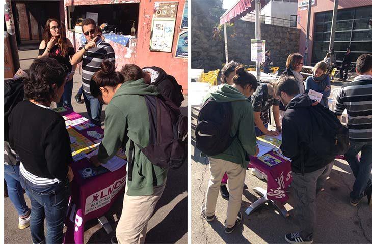 Action de prévention de la santé pour les étudiants au campus Luminy à Marseille