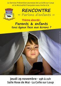 Affiche pour la rencontre parents écrans
