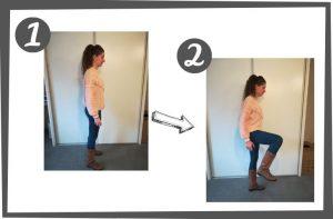 santé sport activité physique montée de genoux