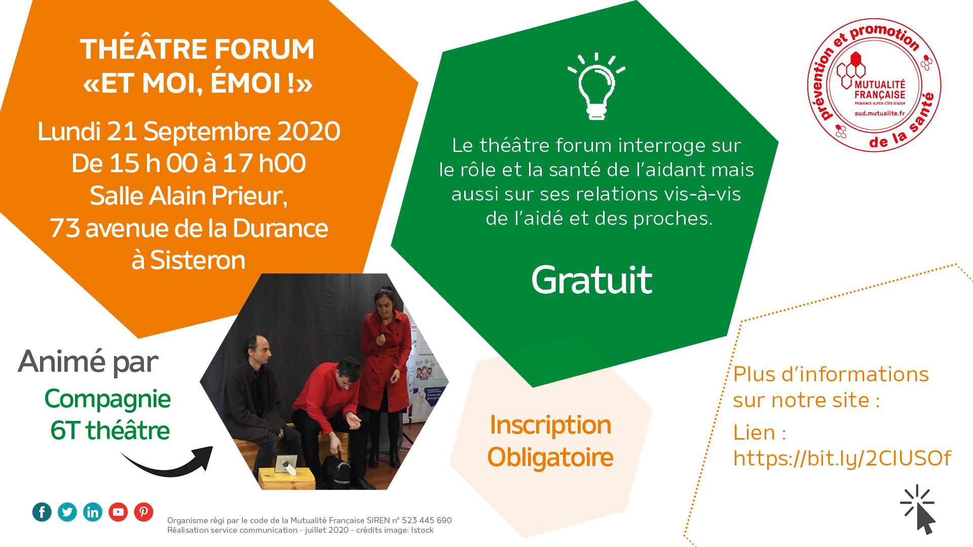 théâtre forum sur la santé des aidants