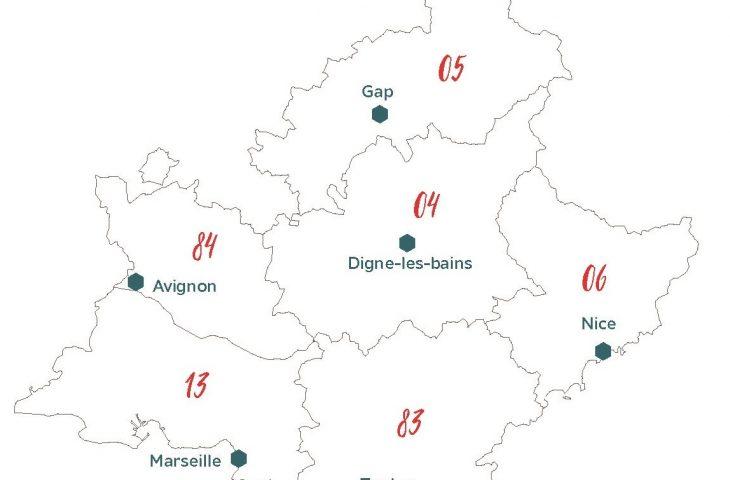 Implantations de la Mutualité Française Sud